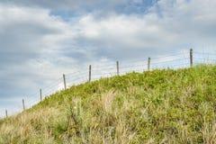 Barbed wire fence in Nebraska Sandhills Stock Photos