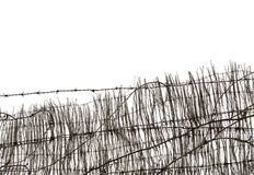Barbed Wire and Fence Stock Images