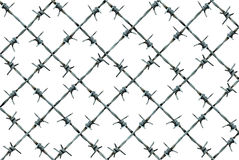 Barbed Wire Fence Pattern Stock Photography