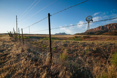 Barbed Wire Fence Ranch Stock Images