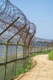Barbed-wire fence Royalty Free Stock Photo