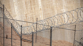 Barbed wire fence. Stock Images