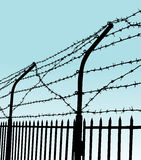 Barbed wire fence Royalty Free Stock Photography