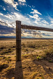 Barbed Wire Fence at Sunset Royalty Free Stock Images
