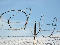 A Barbed Wire Fence. Stock Images