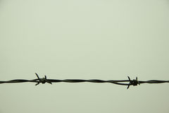 Barbed Wire with Four Points Stock Image