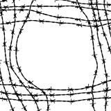 Barbed wire frame Stock Photo