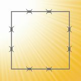 Barbed wire frame Stock Photos