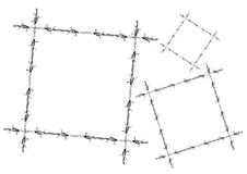 Barbed wire frame-path include Stock Image