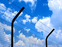 Barbed wire (freedom). stock photography