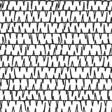 Barbed wire Hand drawn seamless pattern. Stock Photo