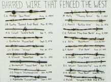 Barbed Wire History Royalty Free Stock Photos