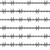 Barbed wire isolated Stock Images