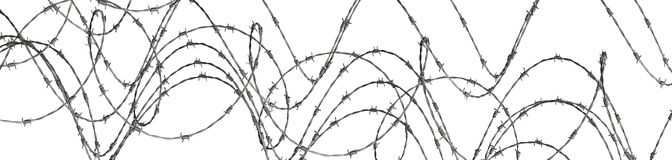 Barbed wire. Isolated on white Stock Photo