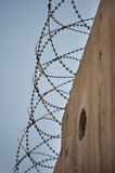 Barbed Wire on Israeli Separation Wall Royalty Free Stock Image