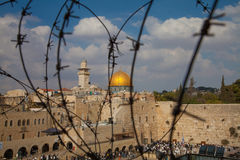Barbed wire - Jerusalem - Dome of the Rock - Temple Mount Stock Photography