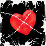 Barbed Wire Love Stock Image