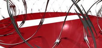 Barbed Wire No Entry Concept Royalty Free Stock Photo