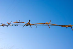 Barbed wire - no freedom Royalty Free Stock Photos