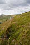 Barbed wire path Stock Photography