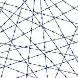Barbed wire pattern Stock Photo