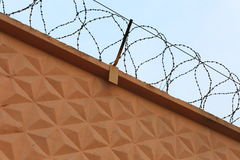 Barbed wire protection Stock Image