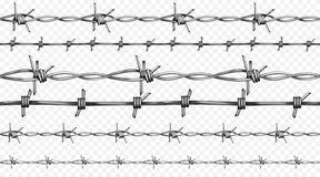 Barbed wire realistic seamless vector illustration vector illustration