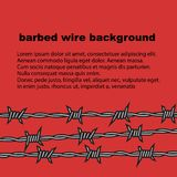Barbed wire red background with place for text. Vector. vector illustration
