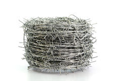 Barbed Wire Roll Isolated On White Background Royalty Free Stock Images