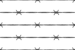 Barbed wire. Seamless pattern of the barbed wire Royalty Free Stock Image