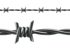 Barbed wire seamless vector Stock Photography