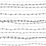 Barbed wire (seamless vector wallpaper) Royalty Free Stock Photos