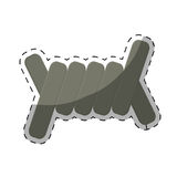barbed wire section  icon image Stock Photo