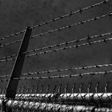 Barbed Wire Security Fence Royalty Free Stock Photos