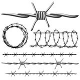 Barbed wire set Royalty Free Stock Photography