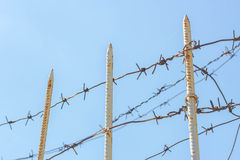 Barbed wire in the sky Royalty Free Stock Photo