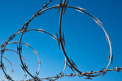 Barbed Wire Spiral Stock Image