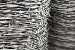Barbed wire spools Stock Photography
