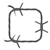 Barbed wire square border Stock Images