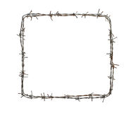 Barbed wire square Royalty Free Stock Images