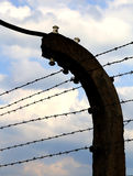 Barbed wire to demarcate the prison camp Royalty Free Stock Photos