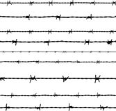 Barbed wire. Vector Stock Images