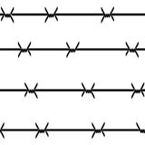 Barbed wire. Vector Royalty Free Stock Images