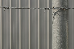 Barbed wire and wall Stock Image