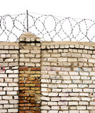 Barbed wire wall Royalty Free Stock Image