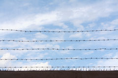The barbed wire wall Royalty Free Stock Photo