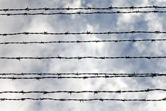 Barbed wires Royalty Free Stock Image