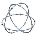 Barbed wires 3d illustration Royalty Free Stock Photo