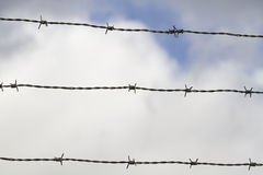 Barbed wires sky Royalty Free Stock Photos