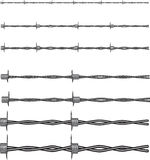 Barbed wires vector Stock Images